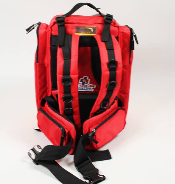 Trauma backpack back