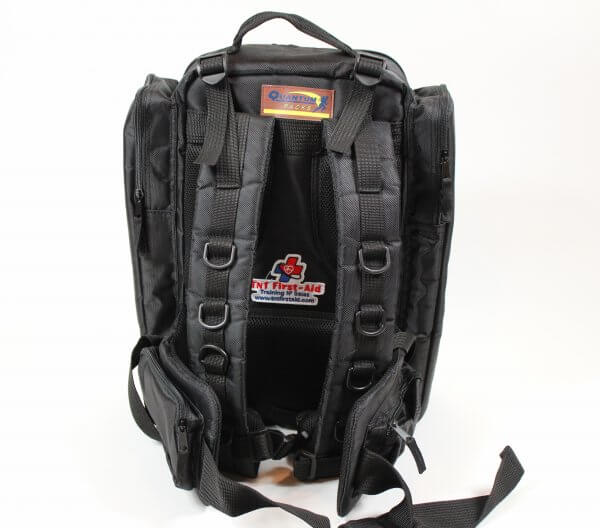 trauma backpack black back 2