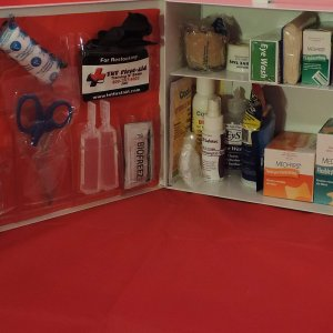 2 Shelf Metal First-Aid Cabinet
