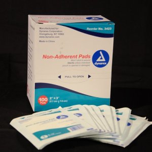"2"" x 3"" sterile Non Adherent Pad 100 ct."
