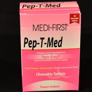 Pepto Bismol 5 symptom relief chewables 48 ct.