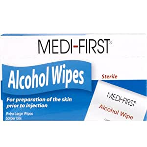alcohol wipes 50 ct